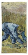 The Reaper After Millet Saint Remy De Provence, September 1889 Vincent Van Gogh 1853  1890 Bath Towel