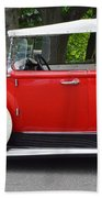 The Red Convertible Hand Towel