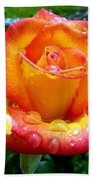 The Red Gold Rose Bath Towel