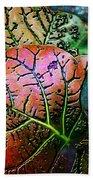 The Red Leaf Bath Towel by Barbara Berney