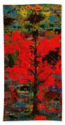 The Red Tree -or- Paint Bath Towel