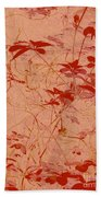 The Red Vine Bath Towel