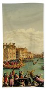 The Redentore Feast In Venice Bath Towel