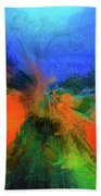 The Reef In Watercolor Abstract Bath Towel