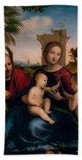 The Rest On The Flight Into Egypt With St. John The Baptist Hand Towel