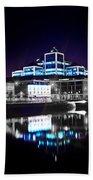 The River Liffey Reflections 2 V2 Bath Towel