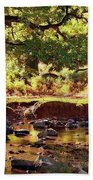 The River Lin , Bradgate Park Bath Towel