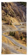 The Road To Izoard Pass - 2 - French Alps Bath Towel