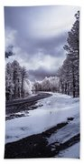 The Road To Snow Bath Towel