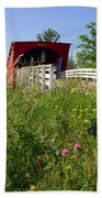 The Roseman Bridge In Madison County Iowa Bath Towel