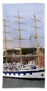 The Royal Clipper Docked In Venice Italy Bath Towel