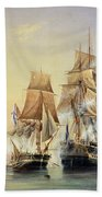 The Russian Cutter Mercury Captures The Swedish Frigate Venus On 21st May 1789 Bath Towel