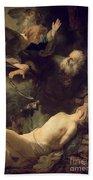 The Sacrifice Of Abraham Bath Towel