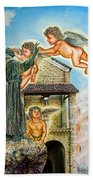 The Saint And The Angels Bath Towel