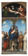 The Saint Anne Altarpiece From San Frediano Lucca Bath Towel