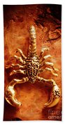 The Scorpion Scarab Bath Towel