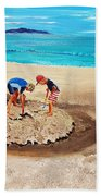The Sea Surges Up With Laughter Bath Towel