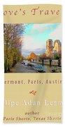 The Seine And Quay Beside Notre Dame, Autumn Cover Art Hand Towel