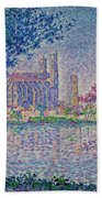 The Seine At Mantes, By Paul Signac, 1899-1900, Kroller-muller M Bath Towel