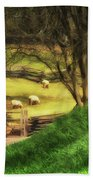 The Sheep's In The Meadow Bath Towel