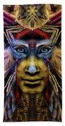 The Sioux Spirit - The Plumed Lion Bath Towel