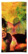 The Sistine Modonna Baby Angels In Abstract Space 20150622 Bath Towel