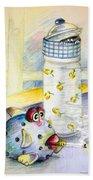 The Smoking Fish Bath Towel