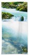 The Soteska Vintgar Gorge, Gorje, Near Bled, Slovenia Bath Towel