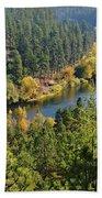 The Spokane River  Bath Towel