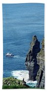 The Stack And The Jack B Cliffs Of Moher Ireland Bath Towel