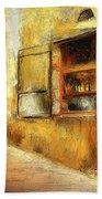 The Street  -- Original Painting Bath Towel