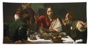 The Supper At Emmaus Bath Towel