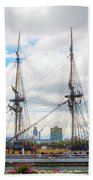 The Tall Ship Hermione - Philadelphia Pa Bath Towel