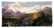 The Teton Range, 1897 Bath Towel