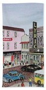 The Theater District Portsmouth Ohio 1948 Bath Towel