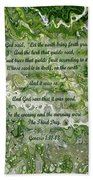 The Third Day With Scripture Bath Towel