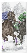 The Thunder Of Hooves - Horse Racing Print Color Bath Towel