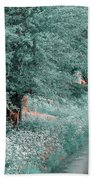 The Time Goes By. Nature In Alien Skin Bath Towel