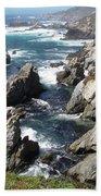 The Tintagel Coast Bath Towel