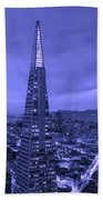 The Transamerica Pyramid At Sunset Bath Towel