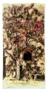 The Tree In The Corner Of The Courtyard Bath Towel