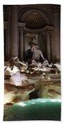 The Trevi Fountain In Rome Bath Towel