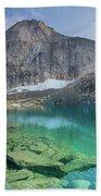 The Turquoise Lake Bath Towel