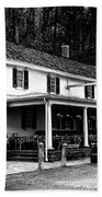 The Valley Green Inn In Black And White Bath Towel