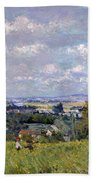 The Valley Of The Seine At Saint Cloud Bath Towel
