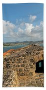 The View From Fort Rodney On Pigeon Island Gros Islet Caribbean Bath Towel