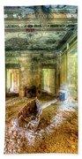 The Villa Of The Boat In The Antique Salon - La Villa Della Barca Nell'antico Salone Bath Towel by Enrico Pelos