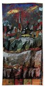 The Village On A Hill Bath Towel