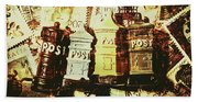 The Vintage Postage Card Hand Towel