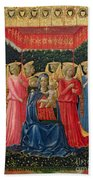 The Virgin And Child With Angels Bath Towel